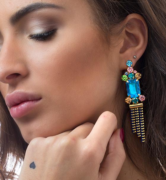 Zipper dream - Gioielli ed accessori - Orecchini ginevra - orecchini con pietre 3